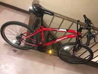 red and black hardtail mountain bike New York, 11206