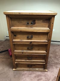 THREE PIECE OAK DRESSER SET  West Babylon, 11704