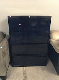 Black Filing Cabinet at the HFH ReStore Hamilton, L8H 7P4