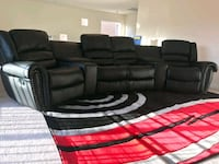 5Pcs Reclining Black theater Sectional•SAME DAY