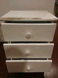 white and brown wooden 3-drawer chest Vancouver, V5R 5X6