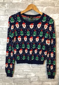 Christmas cropped sweater
