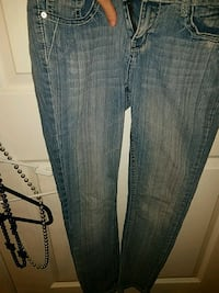 blue denim straight-cut jeans Valdosta, 31601
