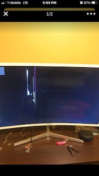 32 inch curved monitor negotiable and comes with speaker