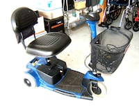 blue and black mobility scooter ORLANDO