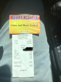 Gift card for video game store De Leon, 76444