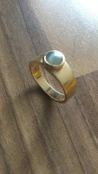 18K gold ring avec gem  Paris, 75001