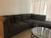 BEAUTIFUL SECTIONAL , 3 TABLES GLASS AND METAL AND 2 BAMBU CHAIRS ALL $550 !!!! Los Ángeles, 91303