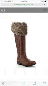 "Super hot fur tan boots had a side zipper easy to wear fully fleece lined heels are 2"" inches gorgeous boots new in a box sizes 7.5 and 8.5 New York, 11234"