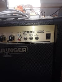 Bass amp with bass guitar