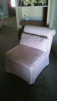 Pink and white Zebra striped chairs 2 available $4 Las Vegas, 89119