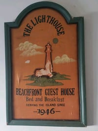 lighthouse antique sign from chincoteague Island VA Middle River, 21220