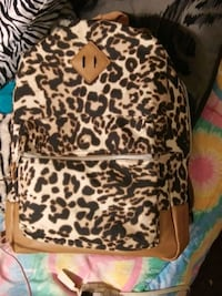 brown and black leopard print backpack Hartman, 72840