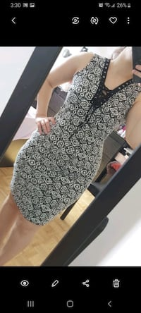 Black white Dress size small Brampton, L6X 0K5