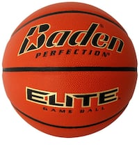 Orange and white Baden Elite basketball