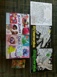 Assorted coloring books,bath bombs and chalk:) Edmonton, T5M 0K9