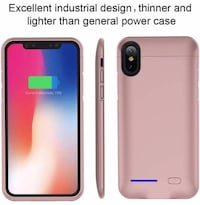 Brand new- iPhone X/XS Battery Case,With Magnet Kickstand- rose gold
