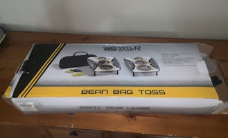 Bean bag toss set up missing some bags