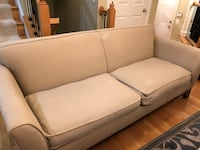 Pottery Barn sofa and chair set.  Excellent condition.  Price negotiable. Alexandria, 22301