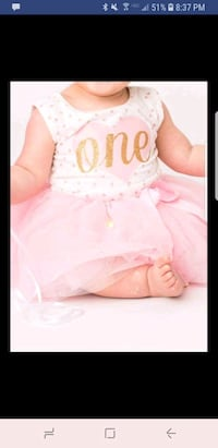 Baby first birthday outfit Centreville, 20120