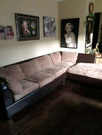 Fox suede sectional