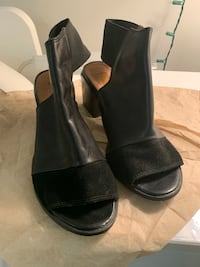 TOPSHOP black high heel shoes