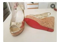 Louboutin metallic cork wedge shoes  Whitby, L1N 8X2