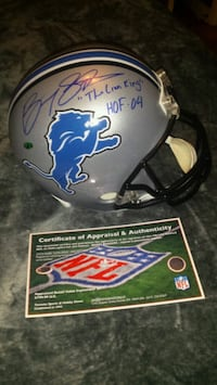 Barry Sanders signed, inscribed & authenticated  Toronto, M1L
