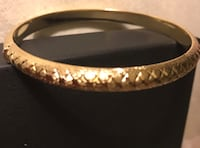 Stunning gold hinged diamond cut bangle Silver Spring, 20904