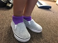 grey and white slip-on shoes Los Angeles, 91405