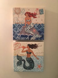 2x2 Canvas Mermaid Artwork Rockville