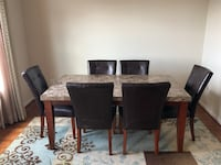 rectangular brown wooden table with four chairs dining set Burtonsville, 20866