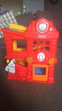 Red fisher-price fire station playset Herndon
