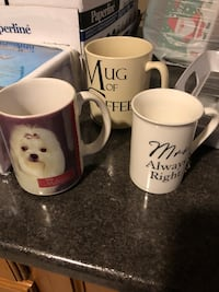 Mugs.  Brand new. Free delivery if needed