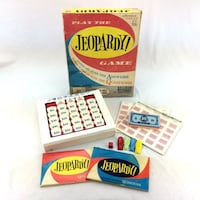 Vintage Jeopardy Board Game 1964 MB 4457 Original 1st & 2nd Edition Bundle Lot Port Colborne
