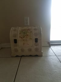 white, pink, and green floral wooden box Cape Coral, 33909