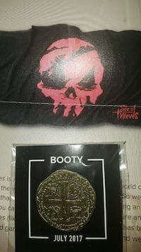Sea Of Thieves towel & Spanish doubloon coin pin