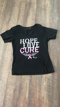 black and white Hope Love Cure-printed t-shirt 1065 mi