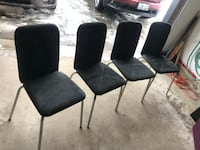four black microsuede padded chairs Barrie, L4N 0R6