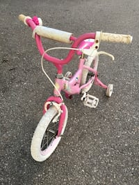 toddler's pink and white bicycle King, L7B