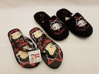 Betty Boop Women's Slippers Flip-Flops Size 5-6 Brampton, L6R 1E3