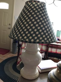 """Small lamp for child""""s room; green and white plaid shade Drexel Hill, 19026"""