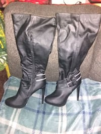 """5"""" Stiletto Knee Heighth Boots Westminster, 80003"""