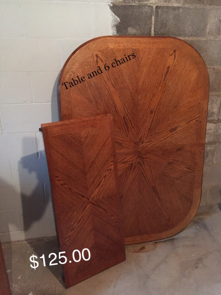 Dining room table 6 chairs in salem letgo for Dining room tables 38 inches wide