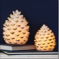 LED Pinecone Candles Set. New