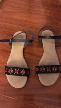 pair of black-and-white leather sandals Irvine, 92604