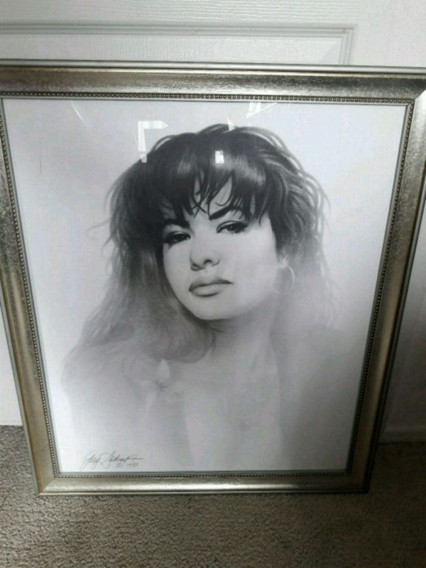 Selena picture drawing with signature