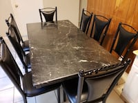 Marble Dining Table + 8 Free Chairs Stockton