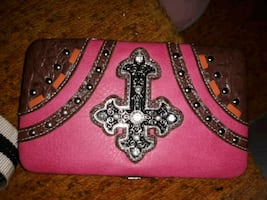 pink wallet w checkbook case brand new w tags retails $30-40