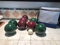 Bocce ball set with carrying case. Never used. Poway, 92064